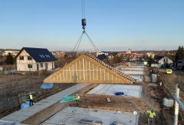 Montaż domów jednorodzinnych PDD w Choroszczy trwa zaledwie 3 dni